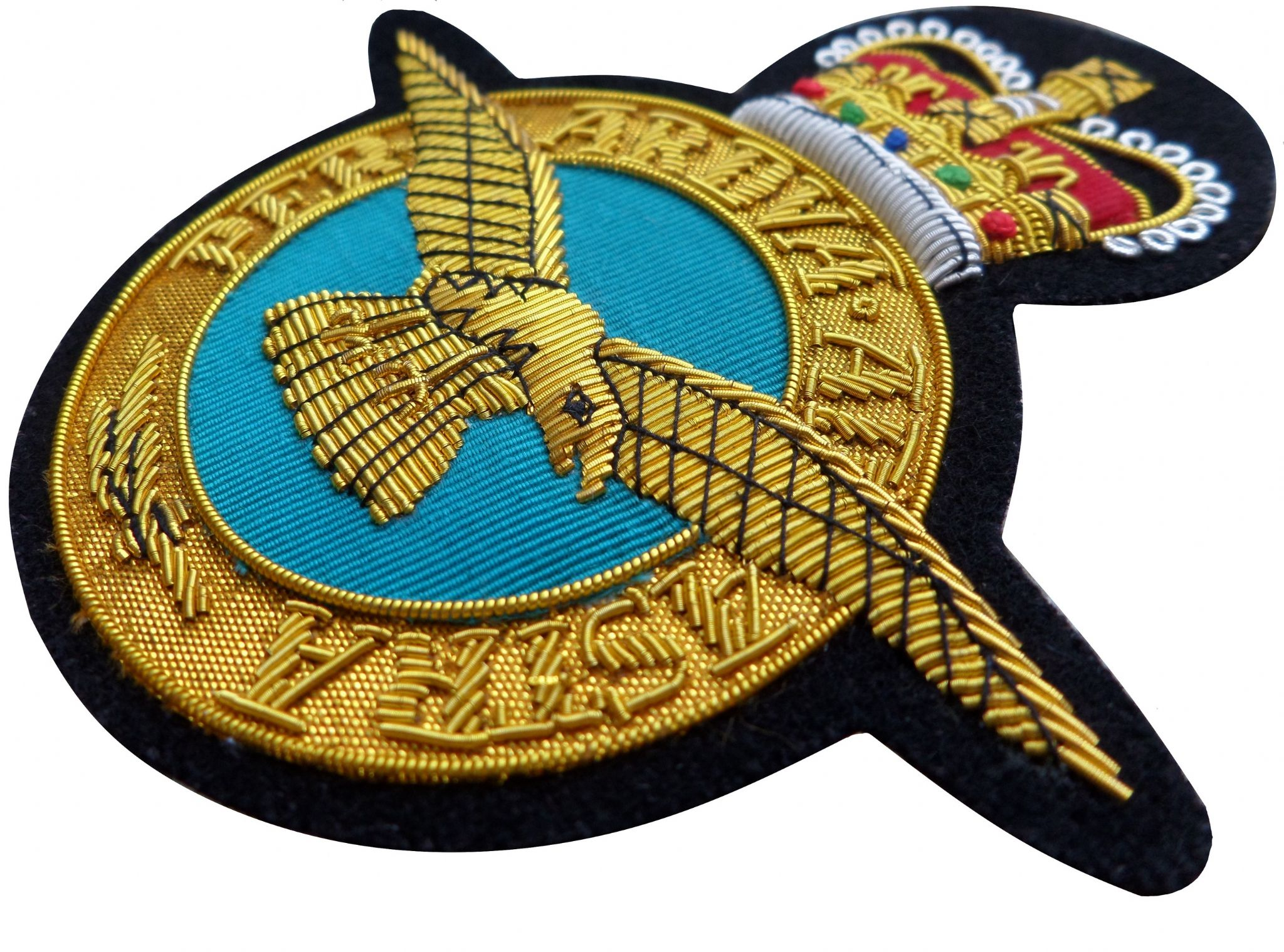 Royal Air Force RAF Insignia GOLD WIRED Blazer Embroidered Badge